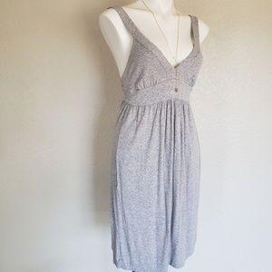 Vince | Gray V-neck Cotton Wide Strap Dress S